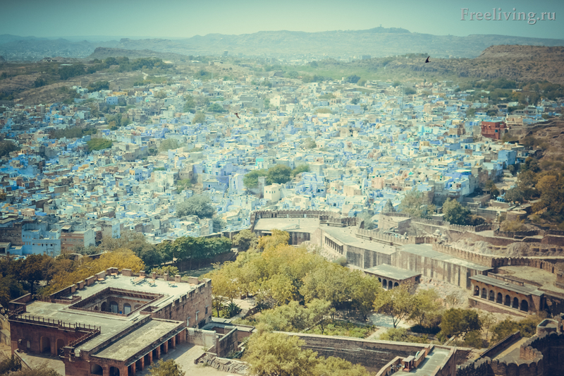 Джодхпур, Раджастан, Индия. Вид на старый город.