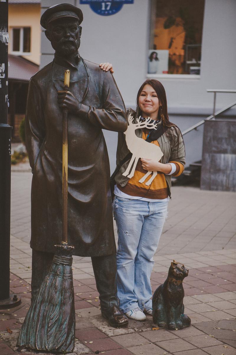 Памятник дворнику в Белгороде
