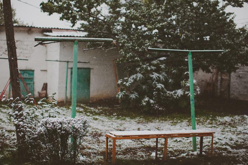Снег в Белгороде 2 октября