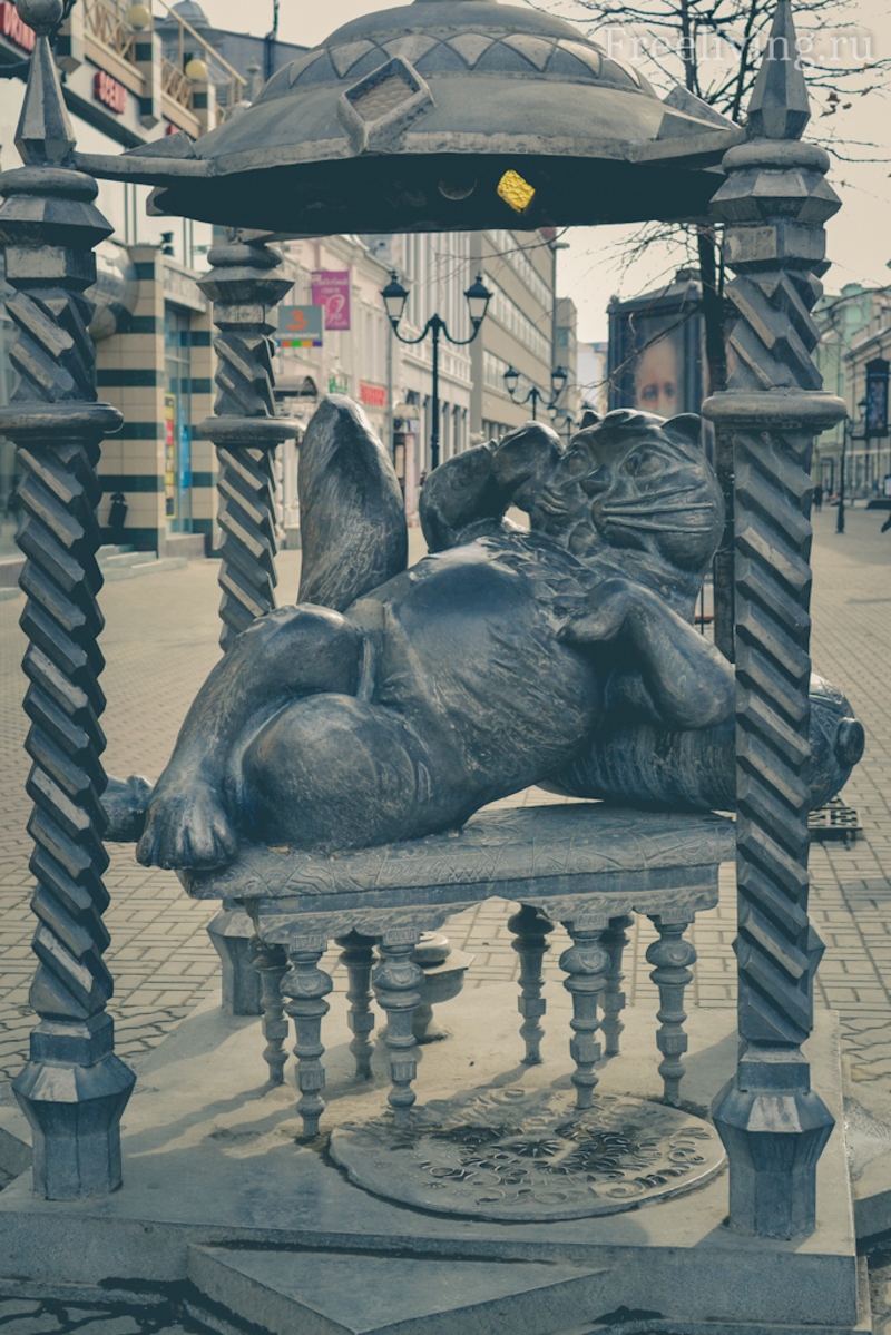 Памятник казанскому коту, улица Баумана