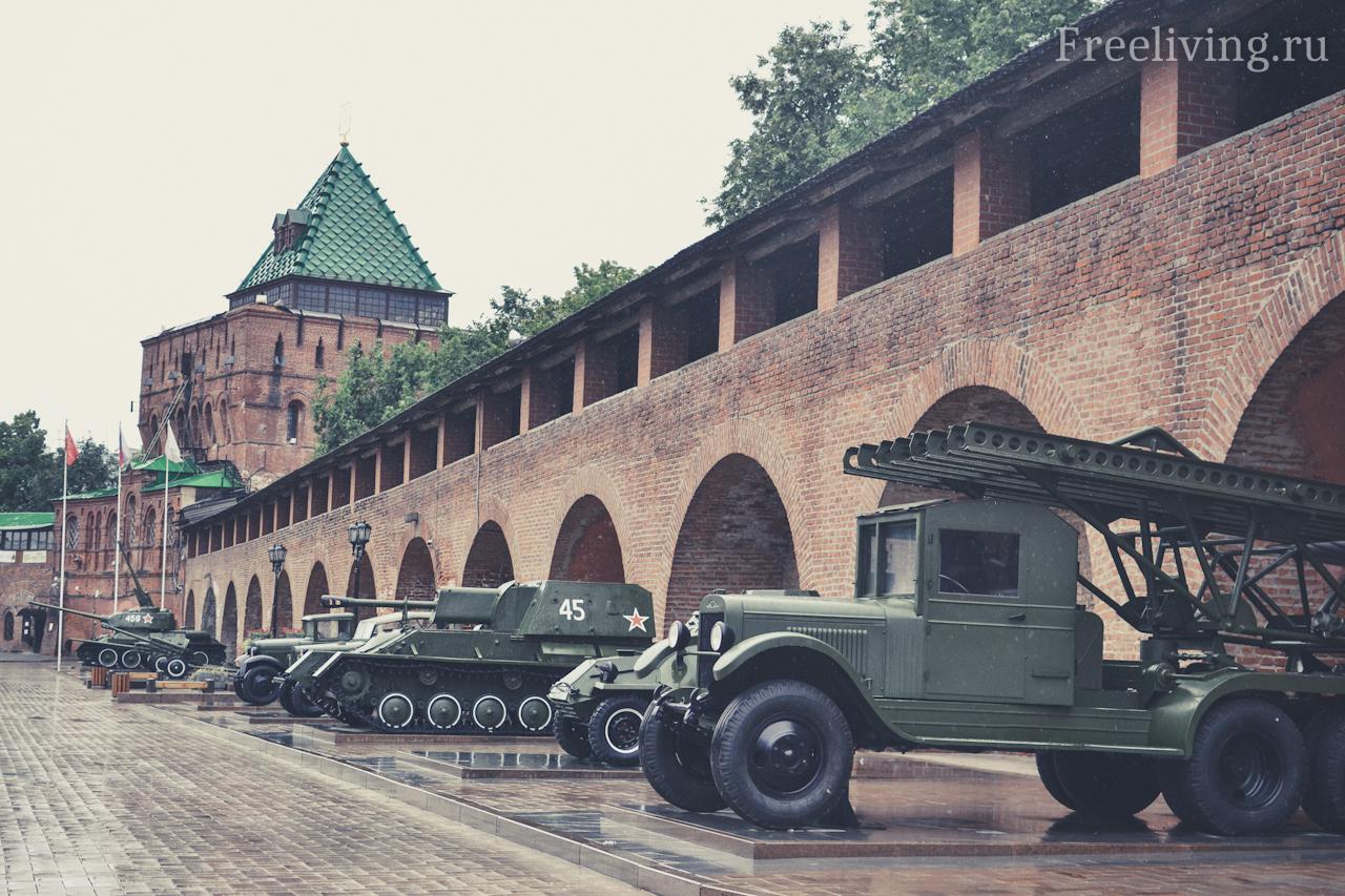Выставка военной техники, Нижегородский Кремль