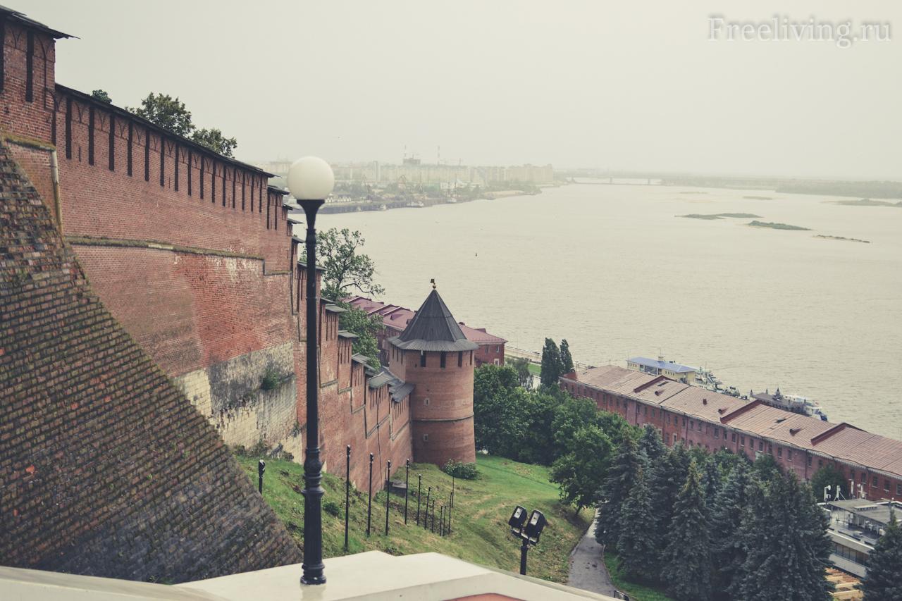 Нижегородский Кремль и вид на Волгу