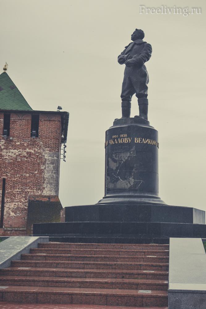 Памятник Чкалову, Нижний Новгород