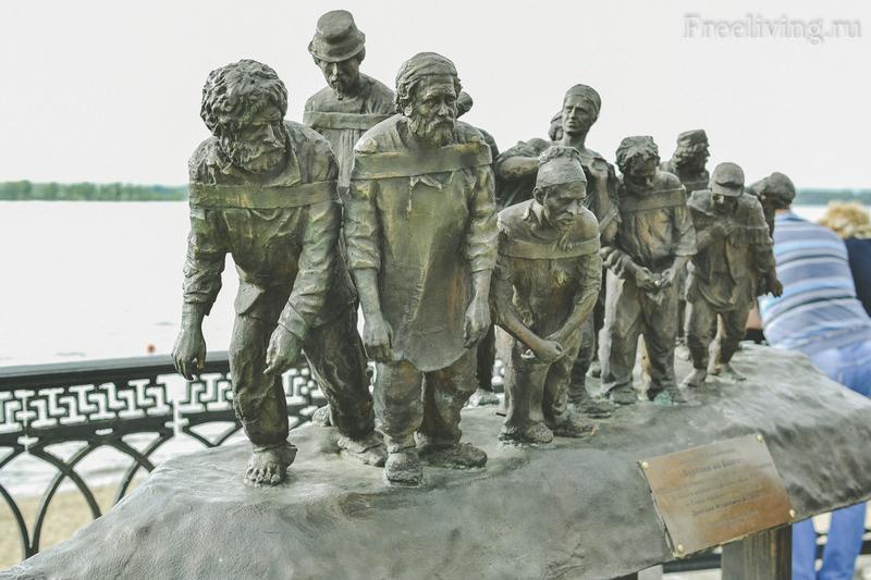 Скульптура Бурлаки на Волге, Самара